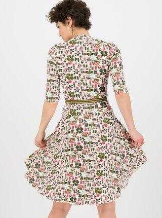 Krémové vzorované šaty Blutsgeschwister My garden