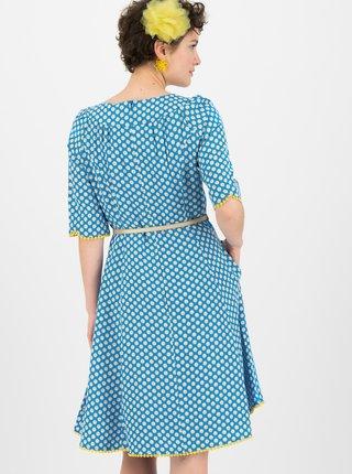 Modré kvetované šaty Blutsgeschwister Daisy