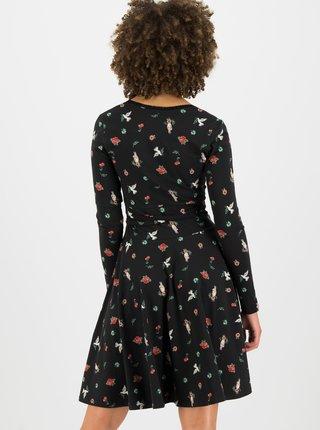 Čierne vzorované šaty Blutsgeschwister Ode to the woods