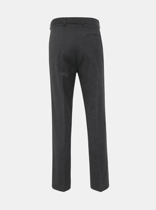 Tmavošedé slim fit nohavice Burton Menswear London