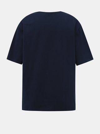 Tmavě modré dámské basic tričko Lacoste
