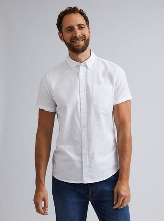 Biela košeľa s krátkym rukávom Burton Menswear London