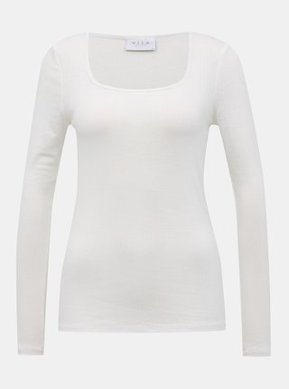 Bílé basic tričko VILA Suloma