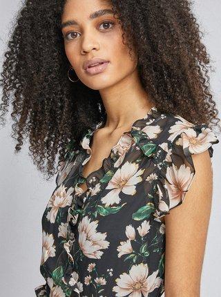 Černé květované midi šaty Dorothy Perkins