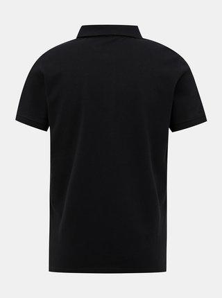 Čierna pánska basic polokošeľa Tom Tailor
