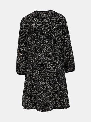 Čierne vzorované šaty Noisy May Alena