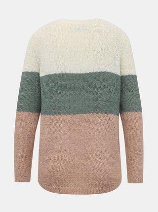 Zeleno-krémový sveter ONLY Geena