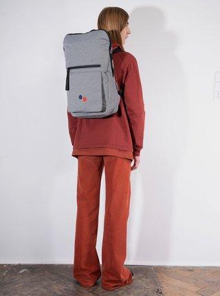 Šedý vzorovaný batoh pinqponq Klak 18 l