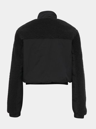 Černá bunda s umělým kožíškem TALLY WEiJL