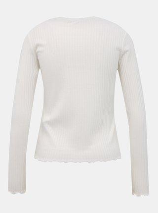 Bílé žebrované tričko TALLY WEiJL