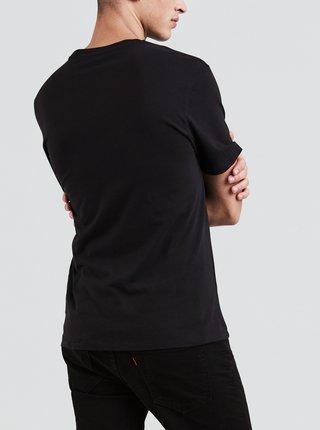 Čierne pánske tričko s potlačou Levi's®