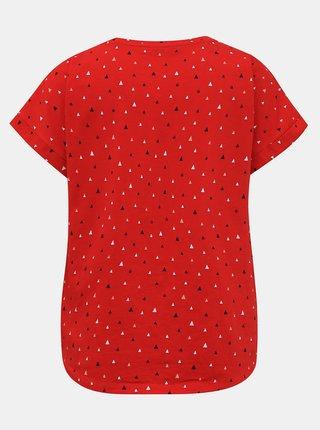 Červené dámské vzorované tričko ZOOT Baseline Runa