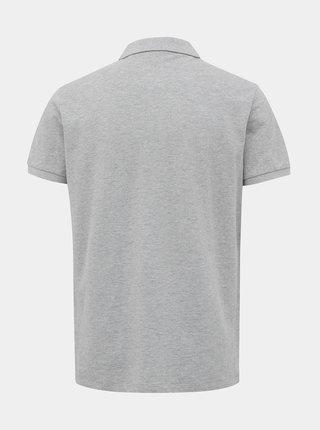 Světle šedé pánské basic polo tričko ZOOT Lionel