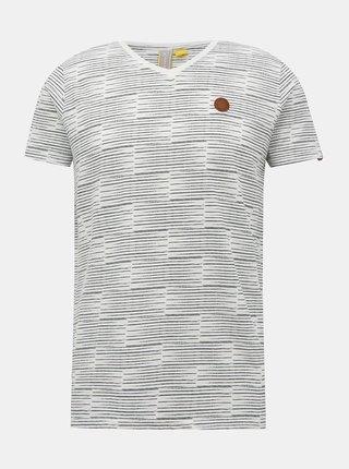 Bílé pánské vzorované tričko Alife and Kickin Tim