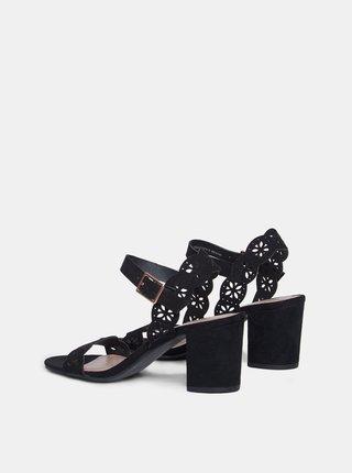 Černé sandály v semišové úpravě Dorothy Perkins