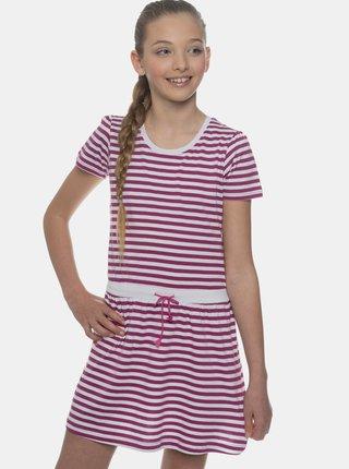 Fialové holčičí pruhované šaty SAM 73