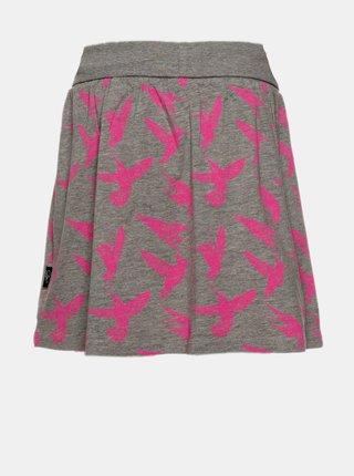 Šedá dievčenská sukňa s potlačou SAM 73