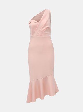 Světle růžové pouzdrové šaty Miss Selfridge