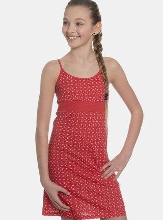 Červené holčičí vzorované šaty SAM 73