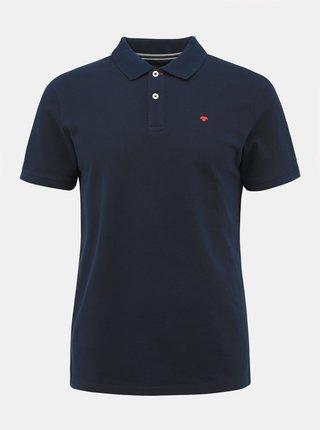 Tmavě modré pánské basic polo tričko Tom Tailor