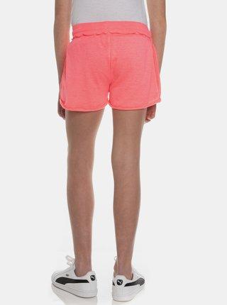 Neonovo ružové dievčenské teplákové kraťasy SAM 73