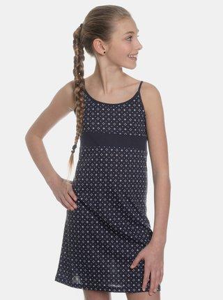 Tmavě modré holčičí vzorované šaty SAM 73