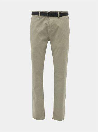 Béžové vzorované chino nohavice Shine Original