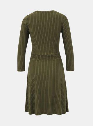 Khaki pruhované šaty ONLY