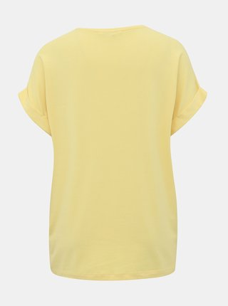 Žluté basic tričko ONLY Moster