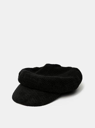 Černá manšestrová kapitánská čepice VERO MODA Yasemin