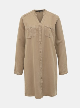 Hnědé košilové šaty VERO MODA Saffi