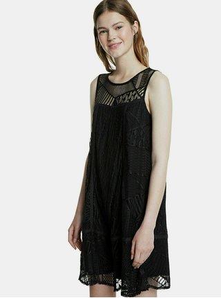 Čierne krajkové šaty Desigual Keira