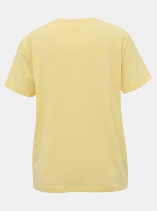 Žluté basic tričko AWARE by VERO MODA Ava