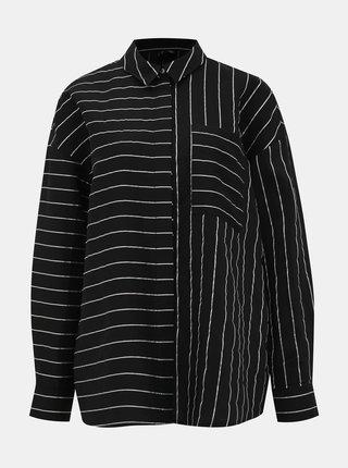 Černá pruhovaná košile VERO MODA Hannnah