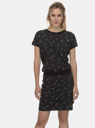 Černé vzorované šaty Ragwear Odyl
