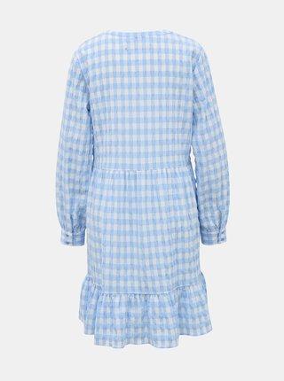 Bielo-modré kockované šaty VERO MODA Kimi