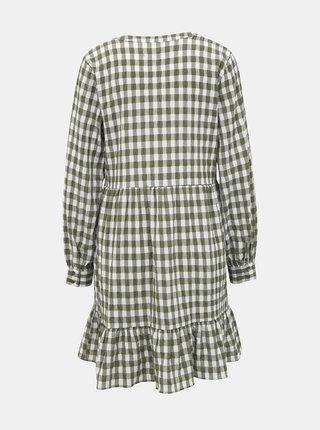 Khaki kostkované šaty VERO MODA Kimi