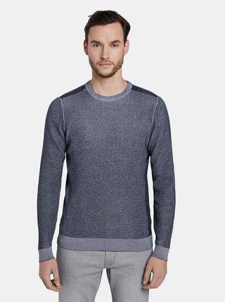 Tmavomodrý pánsky sveter Tom Tailor Denim