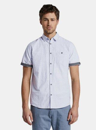 Světle modrá vzorovaná košile Tom Tailor