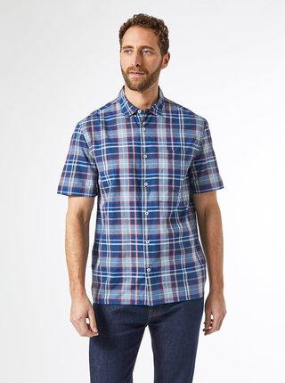 Modrá kockovaná košeľa Burton Menswear London
