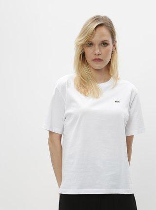 Bílé dámské basic tričko Lacoste