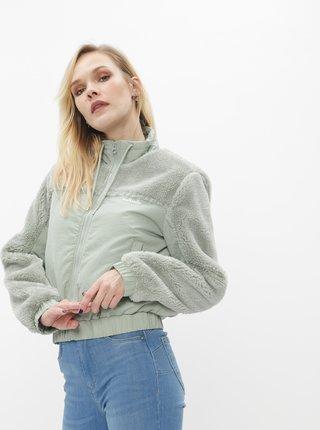 Svetlozelená bunda s umelým kožúškom TALLY WEiJL