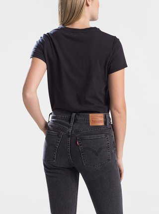 Čierne dámske basic tričko s nášivkou Levi's®
