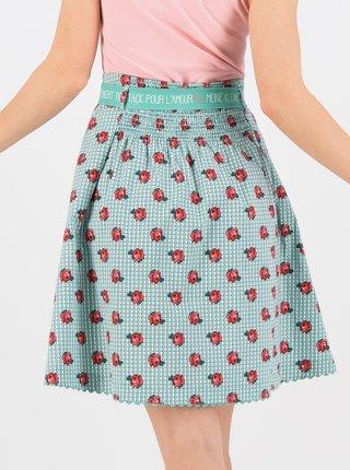 Zelená květovaná sukně Blutsgeschwister