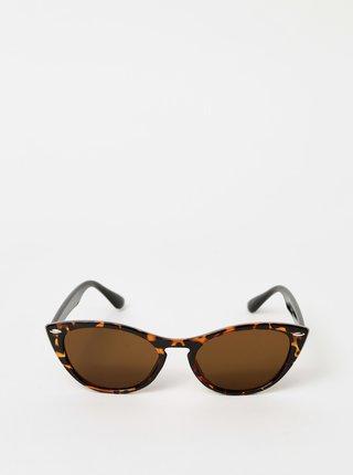 Hnedé vzorované slunečné okuliare Haily´s Tamara