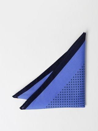 Modrá vzorovaná vreckovka Selected Homme Malek