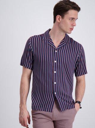 Tmavomodrá pruhovaná košeľa Lindbergh