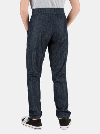 Tmavomodré dievčenské vzorované nohavice SAM 73