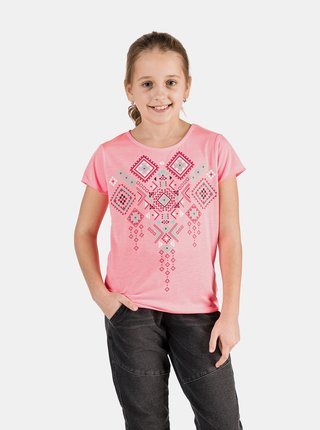 Neonovo ružové dievčenské tričko SAM 73