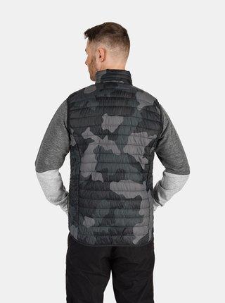Tmavě šedá pánská vzorovaná vesta SAM 73